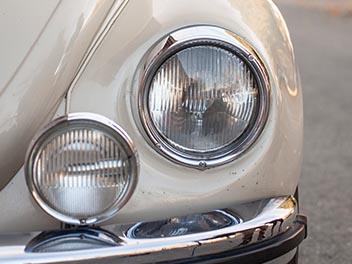 Oldtimer VW Käfer Scheinwerfer detail