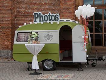 Oldtimer Wohnwagen inklusive Fotobox _seitenansicht