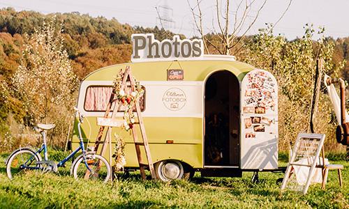 Oldtimer Wohnwagen mit Fotobox